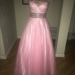 Fabulous Party Time Crystal Lite Pink Ball Gown